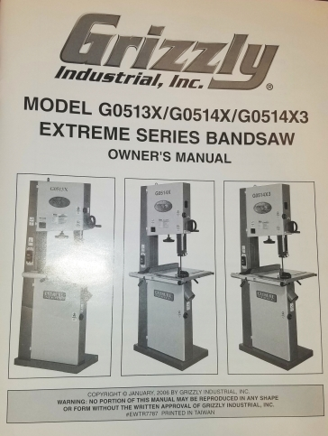 bandsaw Grizzly OM