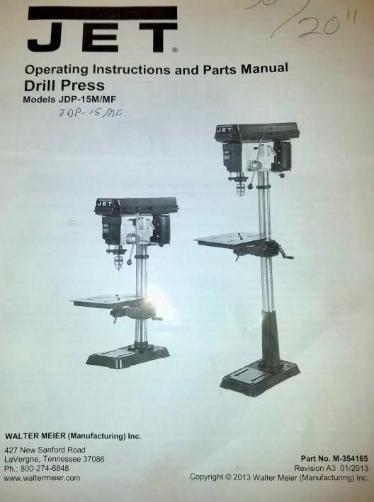 drill press OM